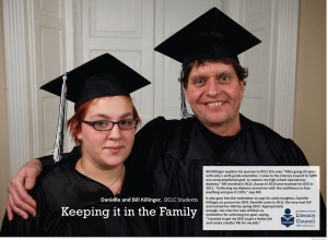 Faces of Literacy: father and daughter earn their GEDs